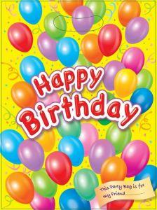 Happy Birthday Yellow Loot Bag