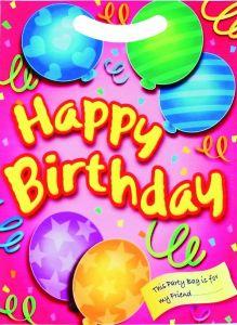 Happy Birthday Pink Loot Bag