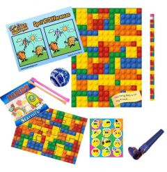 Bricks Themed Party Bag Contents