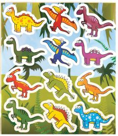 Dinosaur Themed Stickers - 10 Pack