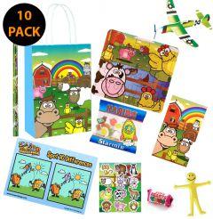 Farm Theme Premium 10 Pack Pre Filled Party Bag Contents
