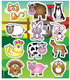 Farm Themed Stickers - 10 Pack