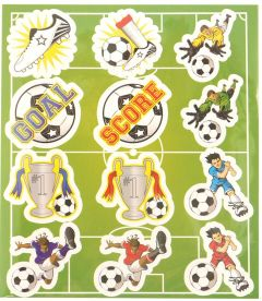 Football Themed Stickers - 10 Pack