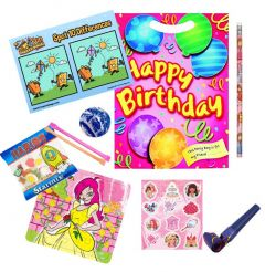 Happy Birthday Pink Pre Filled Party Bag Contents