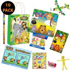 Jungle Theme 10 Pack Premium Pre Filled Party Bag Contents