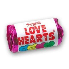 Single mini pack of Love Hearts