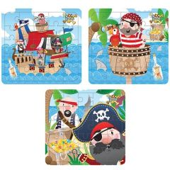 Pirate Theme Puzzle Jigsaw 6 Pack
