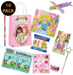 Princess Theme 10 Pack Premium Pre Filled Party Bag Contents