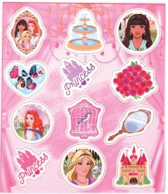 Princess Themed Stickers - 10 Pack