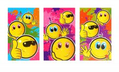 Smiley Faces Notebook - 6 Pack