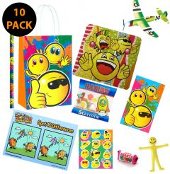 Smiley Faces Theme 10 Pack Premium Pre Filled Party Bag Contents