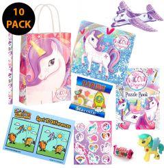 Unicorn Theme 10 Pack Premium Pre Filled Party Bag Contents