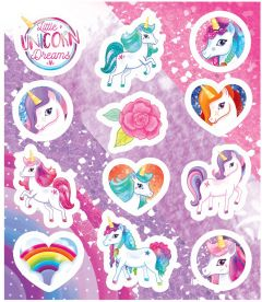 Unicorn Themed Stickers - 10 Pack