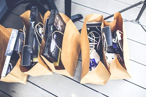 Shop, Shopping, Bags, Gift, Brown, Blank