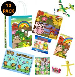 Farm Theme Premium 10 Pack Pre Filled Party Bag Contents