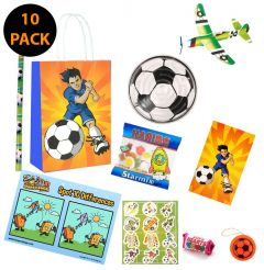 Football Theme 10 Pack Premium Pre Filled Party Bag Contents