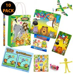 Jungle Theme 10 Pack Premium Pre Filled Party Bag Contents