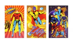 Superhero Theme Notebook - 6 Pack
