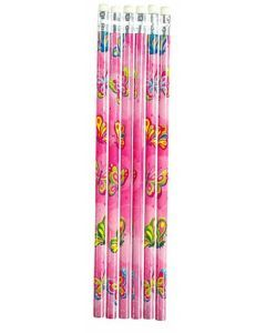 Butterfly Themed Pencil - 6 Pack