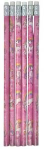 Unicorn Themed Pencil - 6 Pack