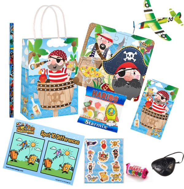 BAG FILLERS PIRATE DINOSAUR JUNGLE PRINCESS CHILDRENS PRE FILLED PARTY BAGS