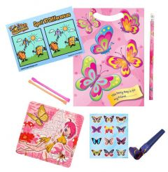 Butterfly Themed Pre Filled Party Bag Contents