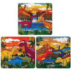 Dinosaur Theme Puzzles - 6 Pack
