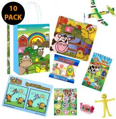 Farm Themed Party Bag Contents 10 Pack