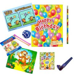 Happy Birthday Yellow Party Bag Contents