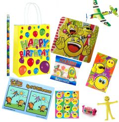 Happy Birthday Yellow Premium Pre Filled Party Bag Contents