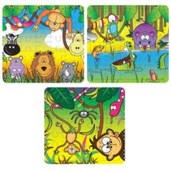 Jungle Theme Puzzles - 6 Pack
