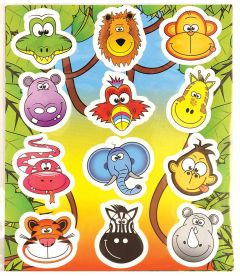 Jungle Themed Stickers - 10 Pack