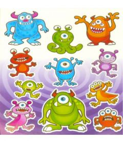 Monster Themed Stickers - 10 Pack