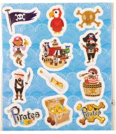 Pirate Themed Stickers - 10 Pack