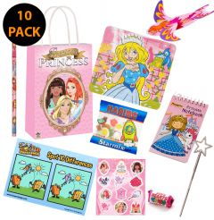 Princess Themed Pre Filled Party Bag Contents 10 Pack