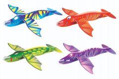 Dinosaur Theme Flying Glider - 4 Pack