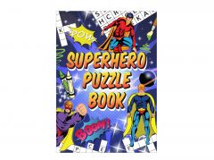 Superhero Puzzle/Colour Book - 6 Pack