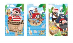 Pirate Theme Notebook - 6 Pack
