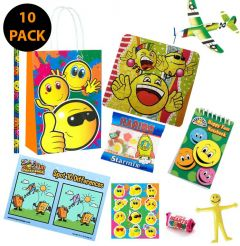 Smiley Faces Party Bag Contents 10 Pack