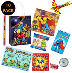 Super Hero Pre Filled Party Bag Contents 10 Pack