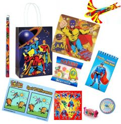 Super Hero Pre Filled Party Bag Contents