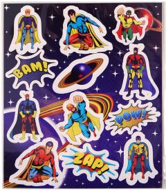 Superhero Themed Stickers - 10 Pack
