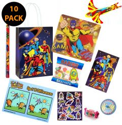 Superhero Theme Premium Pre Filled Party Bag Contents