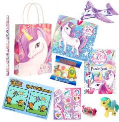 Unicorn Theme Premium Pre Filled Party Bag Contents