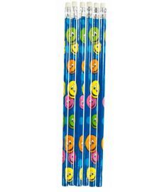 Smiley Faces Themed Pencil - 6 Pack
