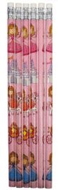 Princess Themed Pencil - 6 Pack