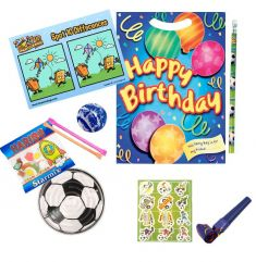 Happy Birthday Blue Pre Filled Party Bag Contents