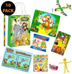 Jungle Pre Filled Party Bag Contents 10 Pack